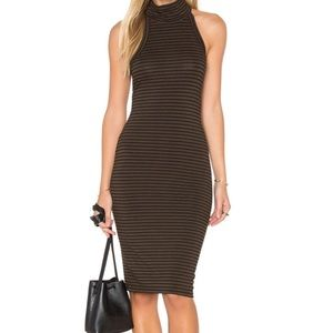 LNA- Kyra Tank Dress- Brown w/Black Stripes- Med.